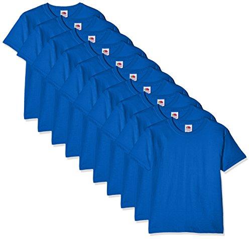 Fruit of the Loom Jungen Regular Fit T-Shirt Kids 10 Pack T-shirt, Blau (Royal Blue 51), 5-6 Y (Herstellergröße: 5-6 Y)