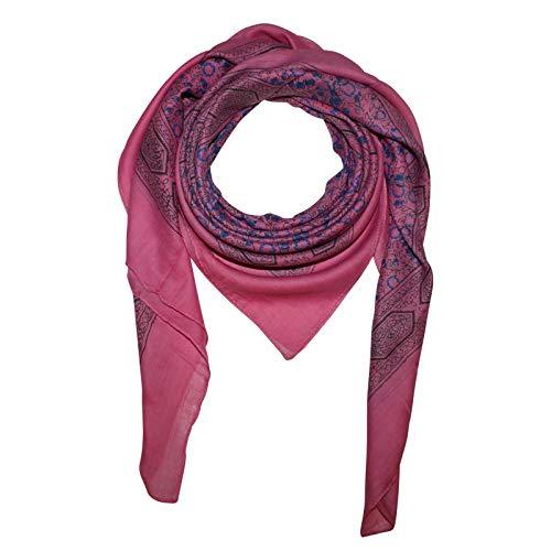 Superfreak Baumwolltuch - Indisches Muster 1 - pink - quadratisches Tuch