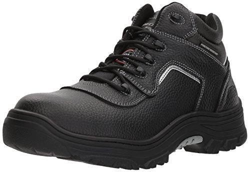 Skechers mens Burgin - Sosder Industrial Boot, Black, 11.5 Wide US