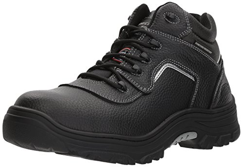 Skechers for Work Men's Burgin-Sosder Industrial Boot,black embossed leather,13 W US