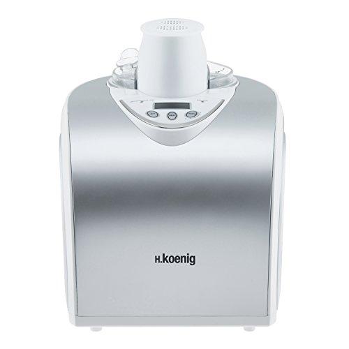 H.Koenig Máquina para Hacer Helados Caseros y Sorbetes, con Compresor 135...