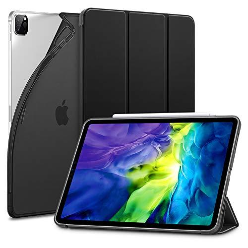 """ESR Custodia per iPad PRO 11"""" 2020, Cover con Retro Flessibile in TPU e Rivestimento gommato, Standby/Riattivazione Automatica, modalità di Visione/Digitazione per iPad PRO 11"""" 2020, Nero"""