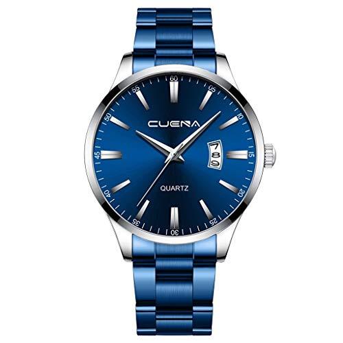 Rosennie Herren Armbanduhr Analog Quarz Uhr Kalender Quarzuhr Businessuhr mit Edelstahl Armband Uhren Analog Sport Uhr Klassisch Quarz-Uhr Männer