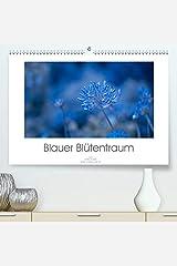 Adam, U: Blauer Bluetentraum(Premium, hochwertiger DIN A2 Wan カレンダー