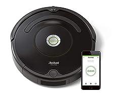 iRobot Roomba 671 WLAN Saugroboter, Dirt Detect Technologie, 3-stufiges Reinigungssystem, Reinigungsprogrammierung per App, Staubsauger Roboter, ideal für Tierhaare, Teppiche und Hartböden, schwarz©Amazon