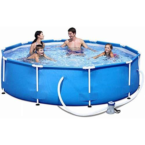 ZZQH Piscina Desmontable con depuradora, Piscina Tubular (Circular), Piscina Hinchable, 366 x 76cm / 145 x 30In Frame Pool Set