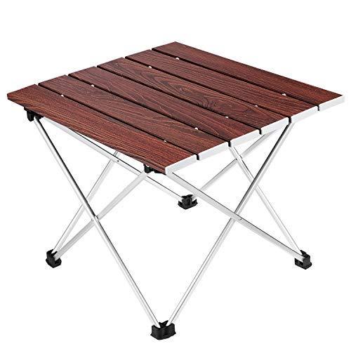 Camping klaptafel, Ledeak draagbare lichtgewicht opvouwbare compacte campingtafel met draagtas, perfect voor buiten, kamperen, picknicken, strand, wandelen, eenvoudig schoon te maken en te installeren