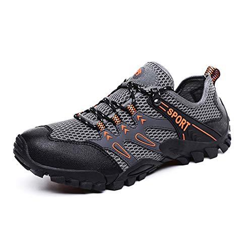 Zapatos De Senderismo Antideslizantes Para Hombres,zapatos De Senderismo De Malla Cómodos Y Transpirables,zapatos Ligeros Para Caminar Para Entrenamiento Al Aire Libre,adecuados Para Viajes Senderis