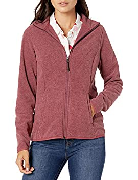 Amazon Essentials Women s Full-Zip Polar Fleece Jacket Burgundy Heather Small