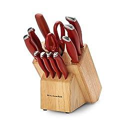 KitchenAid 12-Piece Stamped Delrin Cutlery Set