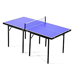 ✅Made with high quality MDF with steel support and legs, sturdy and stable for long lasting use ✅Comes complete with net set for playing ✅Foldable and portable, handles at 2 sides for easy carrying ✅If space is an issue you can place the table on top...