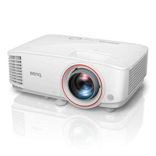 BenQ TH671ST 1080p DLP Home Theater Short Throw Projector, 3000 Lumens, Low Input Lag for Gaming, Ambient Light Sensor (Renewed)