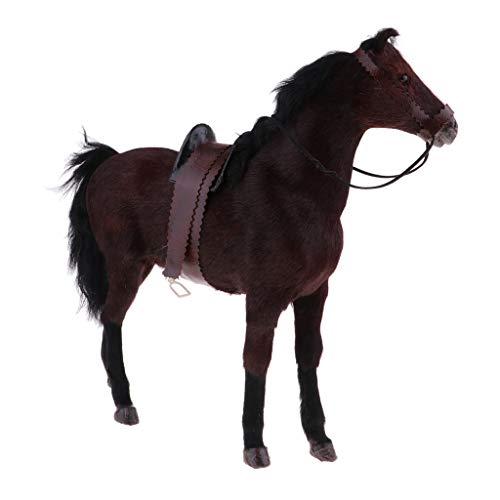 樹脂 1/6 馬モデル 馬フィギュア 動物フィギュア 12インチフィギュア用 全3色 - 褐色