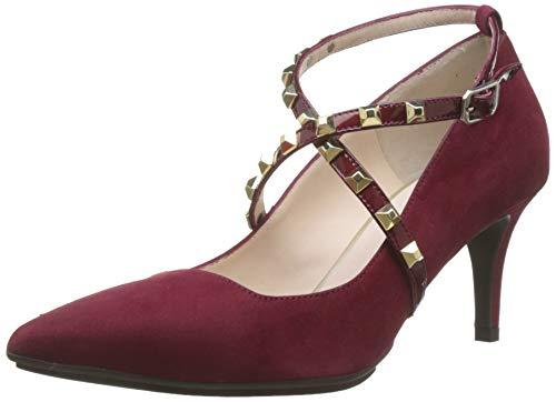 lodi Eldora-GO, Zapatos con Tira de Tobillo para Mujer, Rojo (Ante Bordo Ante Bordo), 41 EU