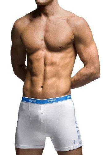 FiveGHerren Boxershort, Einfarbig Weiß Weiß
