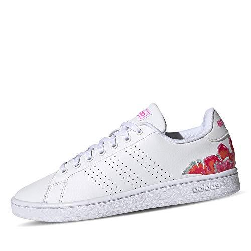 adidas Advantage, Zapatillas de Tenis Mujer, FTWBLA/FTWBLA/ROSCHI, 37 1/3 EU