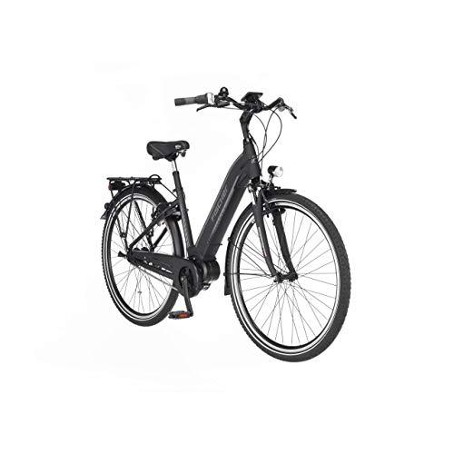 FISCHER E-Bike City CITA 3.1i, Elektrofahrrad, schwarz matt, 28 Zoll, RH 44 cm, Mittelmotor 50 Nm, 48 V/504 Wh Akku im Rahmen