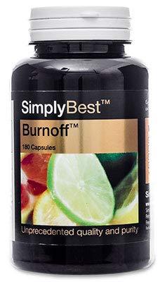 Burnoff - SimplyBest - Geeignet für Veganer - 180 Kapseln - Natürlicher Zitrusfrüchte - SimplySupplements