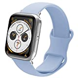 NOY Compatible con Apple Watch Band 44mm 42mm 40mm 38mm, súper cómodo y Duradero, Banda de reemplazo de Silicona iWatch Series 5/4/3/2/1 S/M M/L