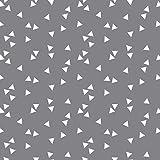 babrause® Baumwollstoff Dreiecke Grau Webware Meterware