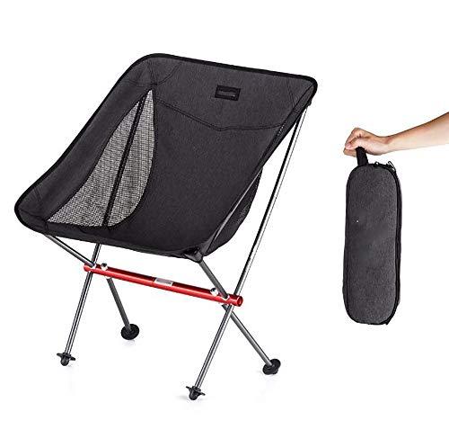 lem Klappstühle Campingstuhl Ultraleichter Gartenstuhl Klappbarer Angelstuhl - 150 kg Hochleistungskapazität, kompakter, tragbarer Outdoor-Stuhl mit Tragetasche für Outdoor-Aktivitäten, Camping, BBQ