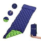 TOPLUS Isomatte Camping aufblasbar matratze Einzelne luftmatratze faltbar Isomatte selbstaufblasend Schlafmatte Wasserdich Tragbar Isomatte für Outdoor Camping