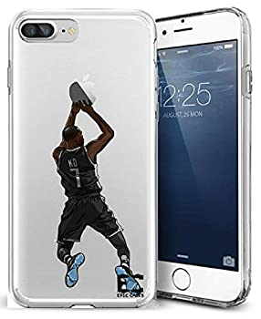Epic Cases iPhone6 Plus iPhone 7/iPhone 8 Plus Case Ultra Slim Crystal Clear Basketball Series Soft Transparent TPU Case Cover Apple  KD Durant Nets iPhone 6/7/8 Plus