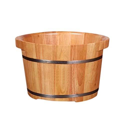 MZZYP Holz Fußbad Barrel mit Deckel Gedämpfte Fuß Eimer Fuß Becken Gesundheit Massage Durable Eindickung Fuß Badewanne