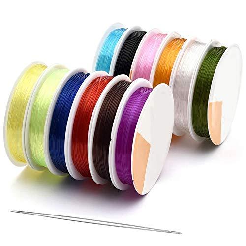 RENSHENKTO Cordón elástico que rebordea los hilos coloridos del estiramiento de la cuerda de la fibra de la redonda que hace a la mano