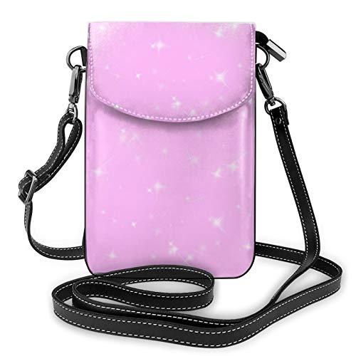 Bolso cruzado rosa brillante para teléfono celular, bolso p