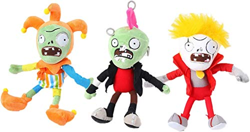 Plants Vs. Zombies 1 2 Stuffed Plush Toy 8' Tall for Children, Geart Gift for Halloween, Christmas (Set of 3 Zombie D)