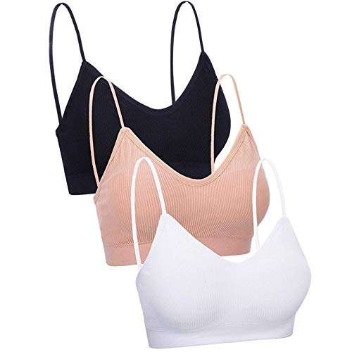 StarneA Sport BH Damen Sexy Dessous Mode Weste Stretch Bra Atmungsaktiv Unterwäsche Joggen Yoga Jumping Fitness 3er Pack