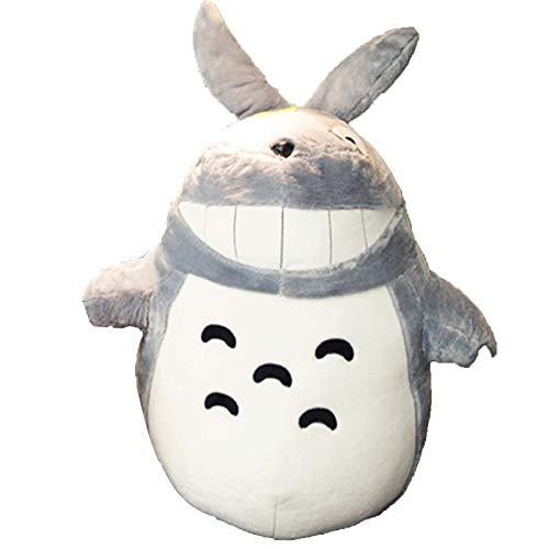 Peluche Figura Big Totoro Gigante Peluche Grande Peluche Bambola Cuscino Cuscino Compleanno, per Bambini Bambini Ragazzi Ragazze E Decorazioni per La Casa, 55-75 Cm, Grigio,B,55cm