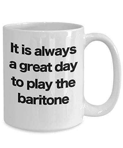 Baritone mok witte koffiebeker grappig cadeau voor muzikant artiest Performer Ukulele gitaar hoorn saxofoon