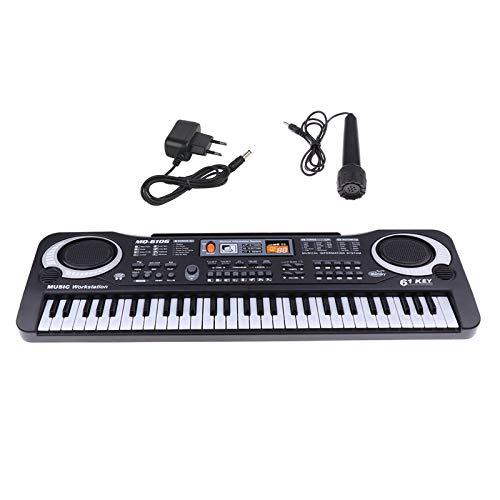 sharprepublic Teclado de Piano Digital con micrófono...