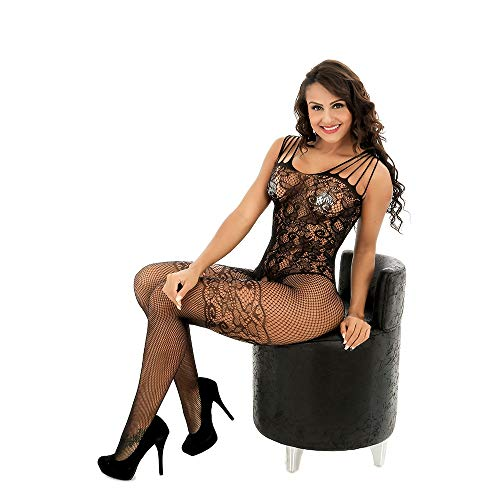 Seksspeeltjes Sling Bow Openwork Sexy Onesies Mesh open kruis panty (Color : Black, Size : ONE SIZE)