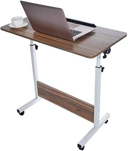 Mesa de sobrecama para ordenador portátil, escritorio simple mesa de ordenador, escritorio, mesa de juegos, mesa de trabajo, hogar, dormitorio, mini escritorio (color: marrón)-marrón