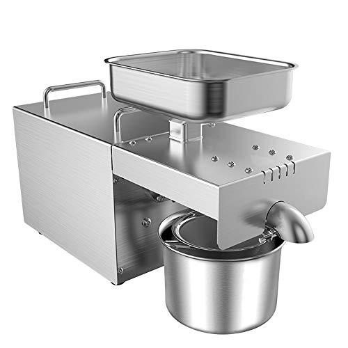MaquiGra Máquina de Prensa de Aceite Automática Doméstica Extractor de Aceite en Caliente y frío Prensa de Tornillo Completo Acero Inoxidable 304 Rendimiento de extracción de Aceite 45% 720W
