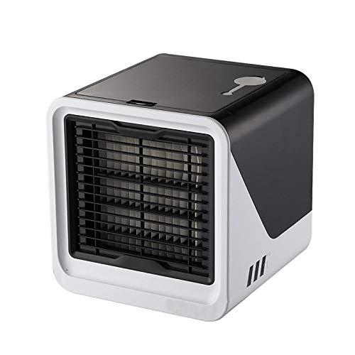 LINJJ Ventilador portátil Mini ventiladores Pequeños electrodomésticos de aire acondicionado Refrigerador de aire USB Ventilador de enfriamiento de aire para verano al aire libre Actividades de viaje-Negro