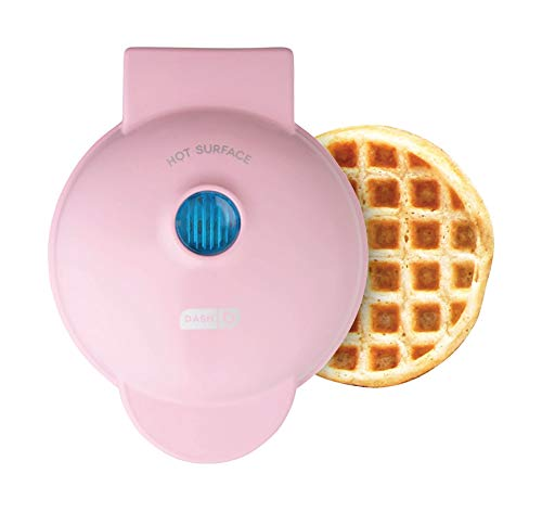 DASH Mini Maker: The Mini Waffle Maker Machine for Individual Waffles, Paninis, Hash browns, & other on the go Breakfast, Lunch, or Snacks - Pink (DMW001PK)