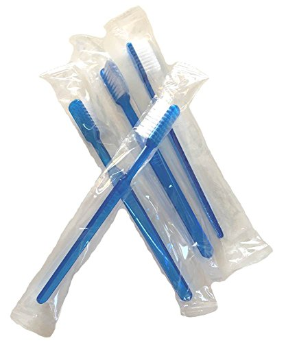 12 Einweg-Zahnbürsten mit Zahnpasta | Reise-Zahnbürste