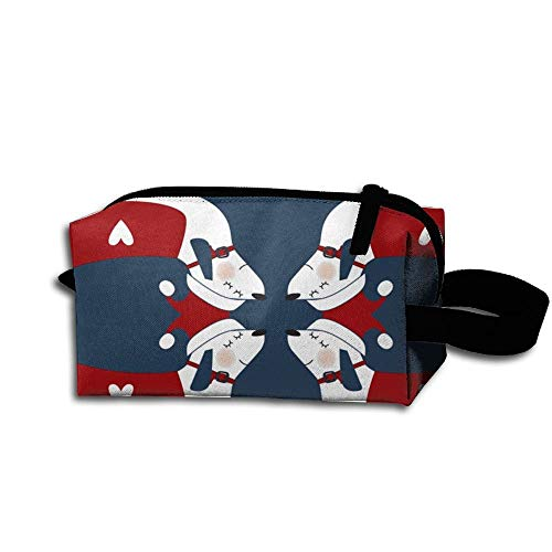 Travel Makeup Cute Christmas Dachshunds Beautiful Waterproof Cosmetic Bag Quick Makeup Bag Pencil Case