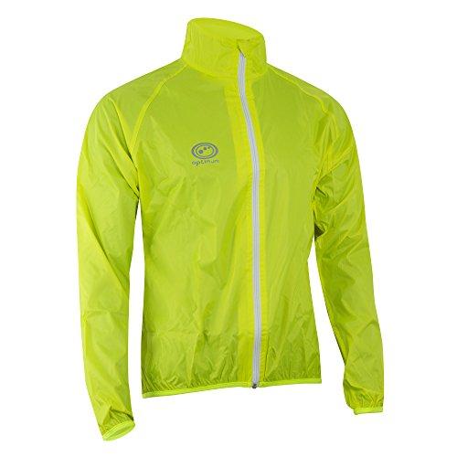 Optimum Men's Hawkley Cycling Rain Jacket, Green, Small with Optimum Men's Hawkley Cycling Waterproof Pants, Black, Small