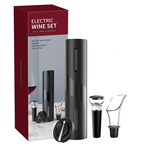 Abridor de botellas de vino eléctrico con sacacorchos, juego de abridor de vino 4 en 1 con carga USB, abridor de vino eléctrico, abridor automático de botellas para cocina, hogar, restaurante, fiesta