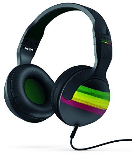 Skullcandy Hesh 2.0 Over-Ear Bluetooth draadloze hoofdtelefoon met microfoon en volumeregeling Hesh (met mic) Hesh Wired (With Microphone) rasta/groen/zwart