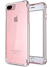 iPhone 7Plus Case Shockproof Clear TPU Phone Case For iPhone 7Plus 8Plus 4 Corner Anti-fall Soft Transparent Protection (iPhone 7Plus/8Plus, Transparent)
