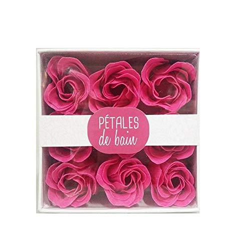 Pétalos de rosa de baño perfumados que se derriten en el