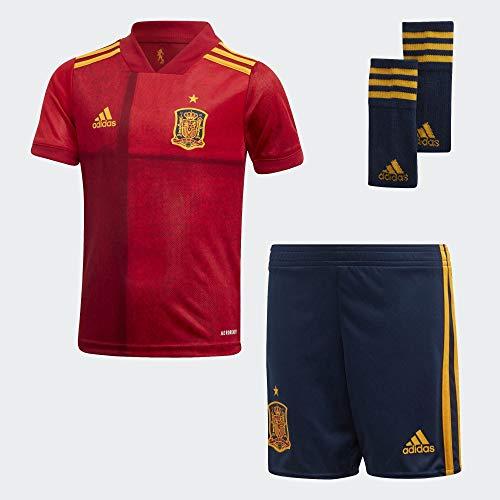 adidas Selección Española Temporada 2020/21 Miniconjunto Primera equipación, Unisex, Victory Red, 98
