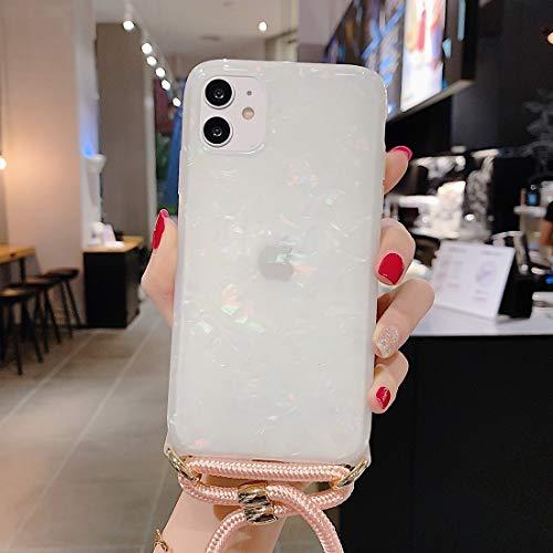 Xyamzhnn Estuche de teléfono Protector con Correa para el Hombro para iPhone 11 Pro láser patrón de patrón TPU Suave (Color : Colour)