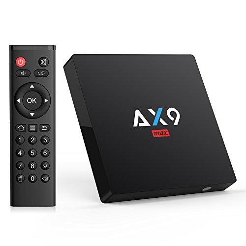 [Android 7.1/2GB/16GB] TICTID AX9 MAX Android TV BOX / Amlogic Quad Core A53 Processor 64 Bits / SPDIF / AV / LAN 100M / 2.4G WIFI / H.265 4K HD Smart TV Box (2+16G)